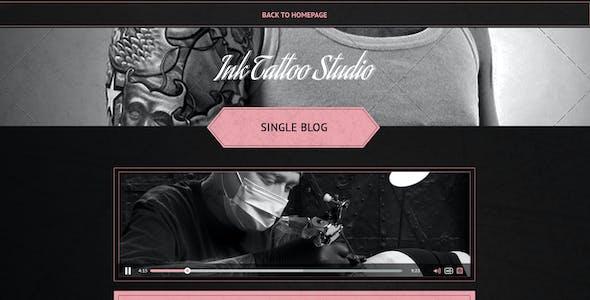 Ink Tattoo Studio -  One Page Portfolio Template