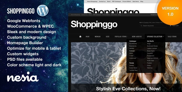 Shoppinggo - WordPress eCommerce Theme - eCommerce WordPress