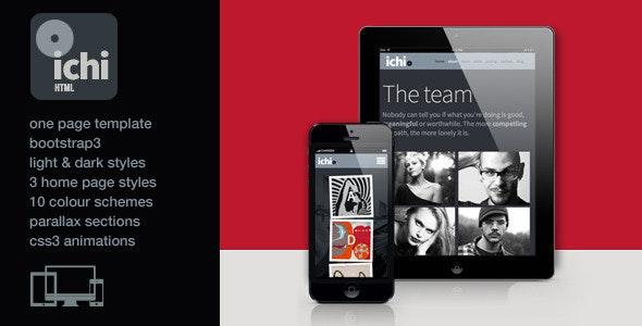 Ichi - One Page Parallax Retina HTML5 Template - Portfolio Creative