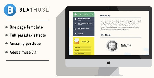 Blatmuse   Creative agency design - Muse Templates
