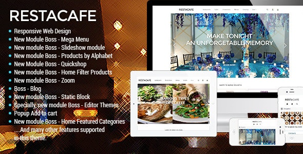 Responsive Restaurant OpenCart Theme - RestaCafe - Fashion OpenCart