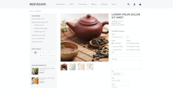 Responsive Restaurant OpenCart Theme - RestaCafe