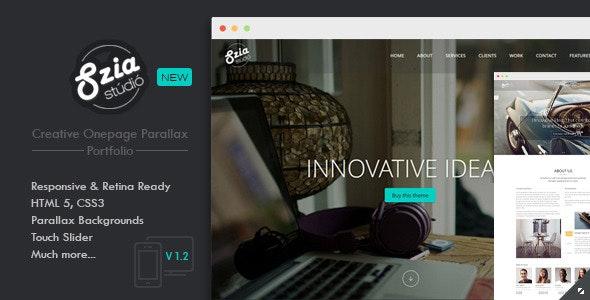 Szia - Responsive One Page Portfolio - Portfolio Creative