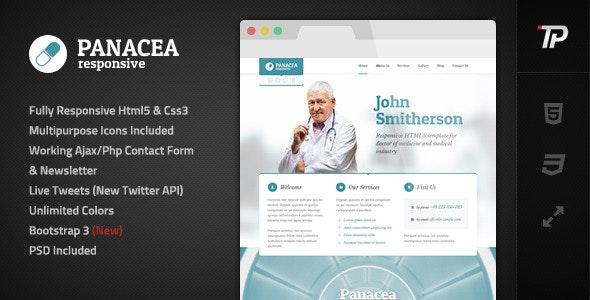 Panacea Responsive Parallax Site Template - Personal Site Templates