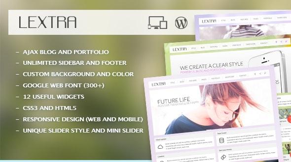 Lextra - Clear Style Wordpress Theme - Creative WordPress