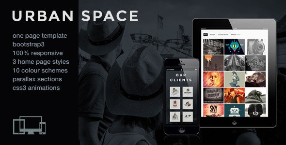 UrbanSpace - Responsive One Page Parallax Template - Portfolio Creative