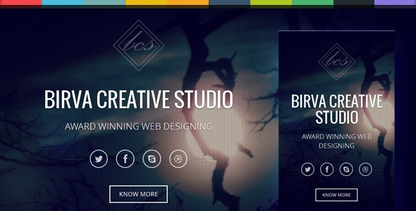 Birva -  Bootstrap Parallax One Page Template - Creative Site Templates