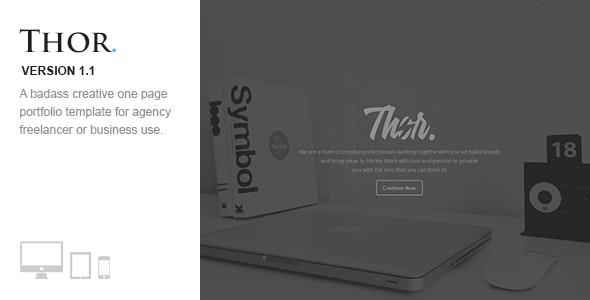 Thor -  Responsive One Page Retina Portfolio - Portfolio Creative