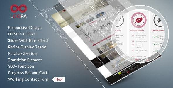 Loopa - Retina Multipurpose Theme - Corporate Site Templates