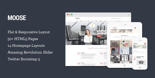 Moose - Multipurpose Responsive HTML5 Template - Creative Site Templates