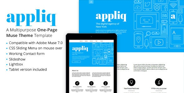 Appliq - One Page Muse Template - Creative Muse Templates