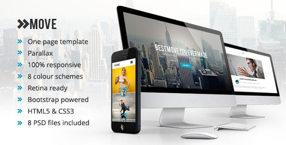 Move - Responsive One Page Parallax Template - Creative Site Templates