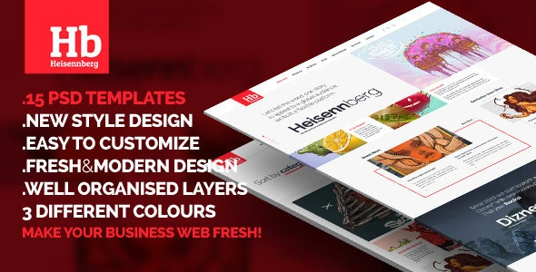 Heisennberg - Fresh New style PSD Design - Business Corporate