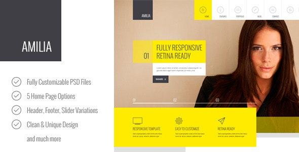 Amilia – Multipurpose PSD Template - Corporate Photoshop