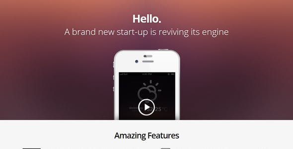 Hello Responsive Coming Soon Template