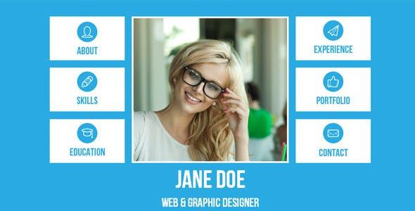 Resume - Single Page Adobe Muse Template
