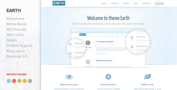 Jupiter - Responsive Clean Bootstrap 3 template