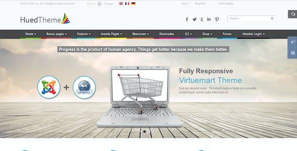 HuedTheme - Responsive Virtuemart Joomla Template