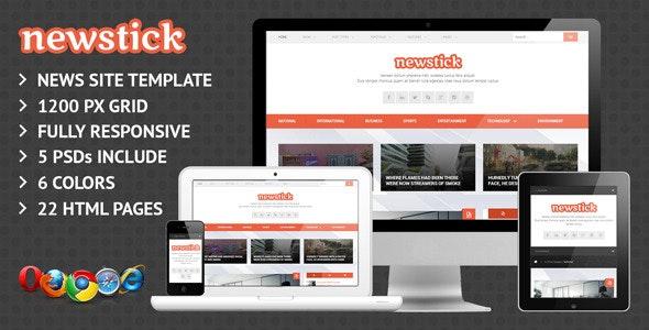 Newstick Responsive News & Magazine Template - Creative Site Templates