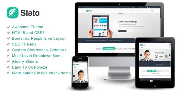 Slato - Bootstrap Responsive Template - Corporate Site Templates