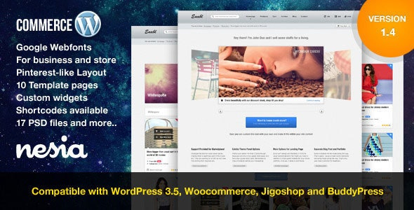 Commerce - Versatile & Responsive WordPress Theme - eCommerce WordPress