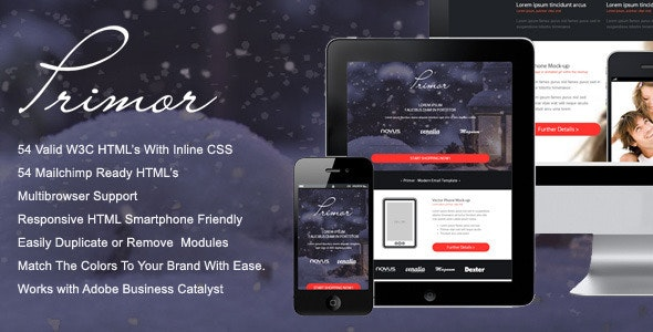 Primor - Responsive Email Template - Miscellaneous Email Templates