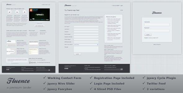 Fluence Landing Page