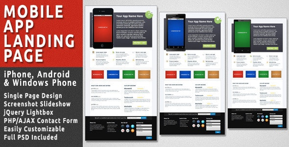 Mobile App Landing Page - Apps Technology