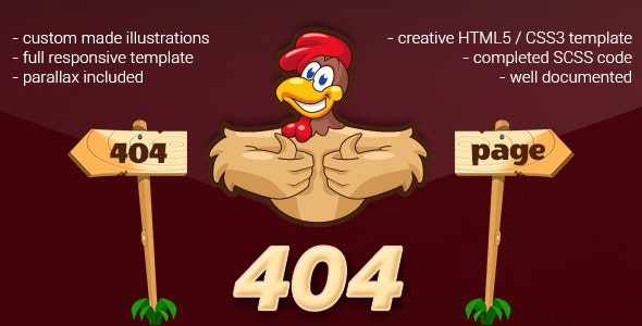 404 Error Cartoon Page - 404 Pages Specialty Pages