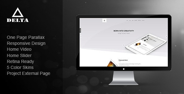 Delta - Responsive One Page Parallax Template - Creative Site Templates