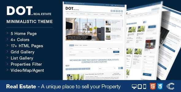 Dot Real Estate HTML5 & CSS3 Template
