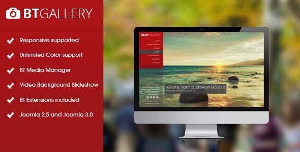 BT Gallery - Responsive template for Joomla - Joomla CMS Themes