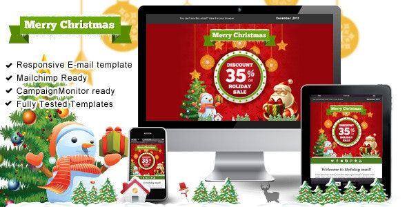 Happy Holiday  – Responsive Email Templates - Email Templates Marketing