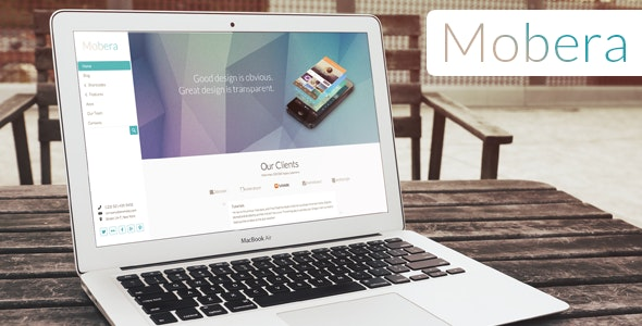 Mobera | Premium App Showcase WordPress Theme - Software Technology