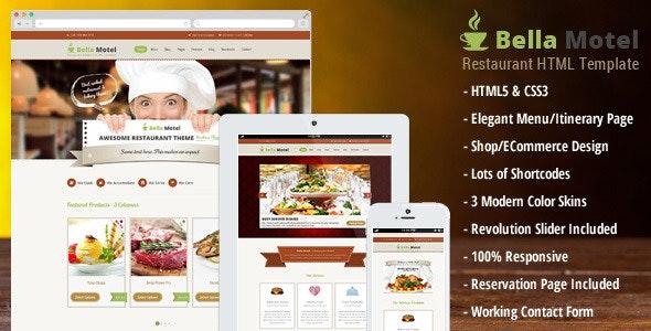 Bella Motel - Restaurant HTML Template - Food Retail