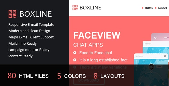 Boxline - Responsive E-mail Template - Email Templates Marketing