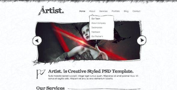 Artist Sketch PSD Template