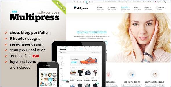Multipress - PSD Template - Corporate Photoshop