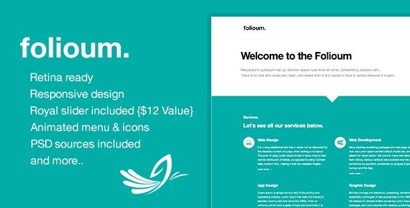 Folioum - Retina HTML5 Website Portfolio Template - Portfolio Creative