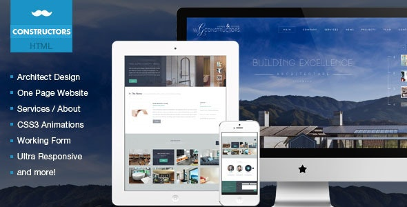 Constructors - Architects & Engineers HTML Theme - Business Corporate