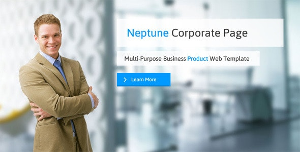 Neptune Corporate Muse Web Template - Corporate Muse Templates