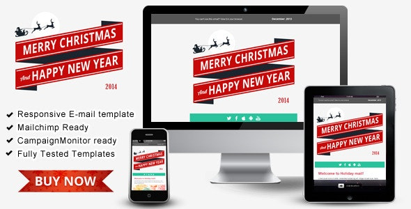 Happy New Year  – Responsive Email Templates - Email Templates Marketing