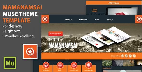 Mamanamsai Muse Theme - Muse Templates