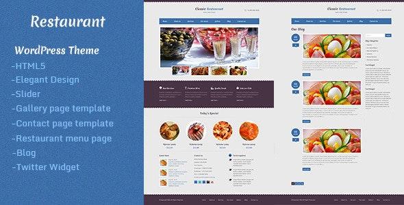 Restaurant - WordPress Theme - Retail WordPress