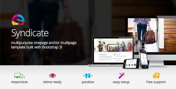 Syndicate - All Purpose Bootstrap Retina Template - Creative Site Templates