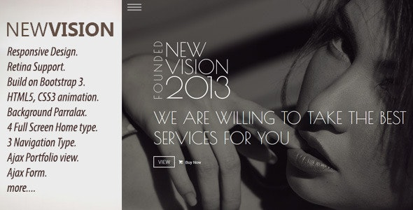 NewVision - Responsive Parallax One Page Template - Creative Site Templates