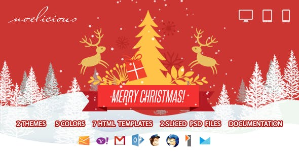 Noelicious - Responsive Email Template