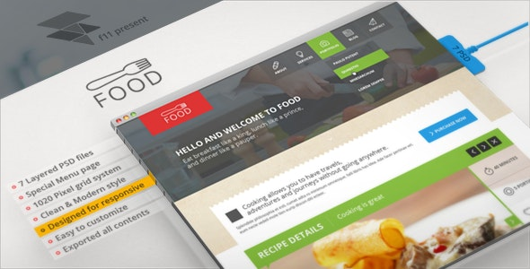 Food - Restaurant PSD Single Page - Food Retail