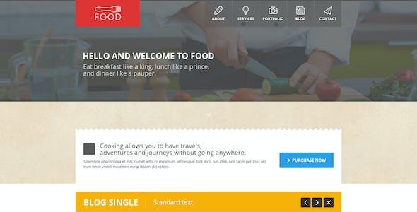 Food - Restaurant PSD Single Page