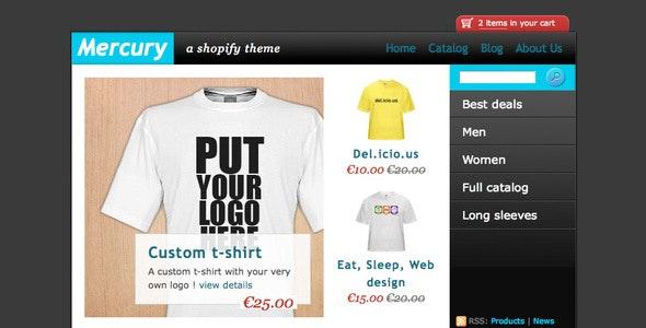 Mercury - Shopify eCommerce